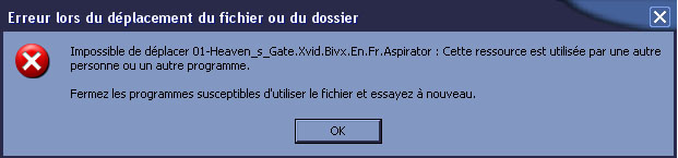 fichier impossible a supprimer